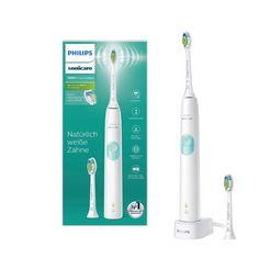 philips sonicare elektrische tandenborstel hx6807-51, 2 opzetborsteltjes wit