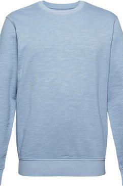 esprit sweatshirt in gemêleerde look blauw