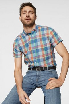 wrangler overhemd met korte mouwen blauw