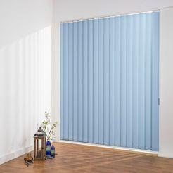 liedeco lamellengordijn verticaal gordijn perlex - 89 mm lamel in te korten verticaal gordijn perlex (1 stuk) blauw
