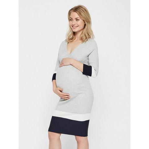 Mama Licious Ribgebreide Zwangerschapsjurk grijs