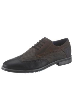 bugatti schoenen met budapest-perforatie blauw