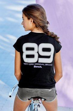 bench. t-shirt »reflecterende cijferprint« zwart