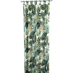 gordijn, »paradise leaves«, tom tailor, lussen per stuk groen