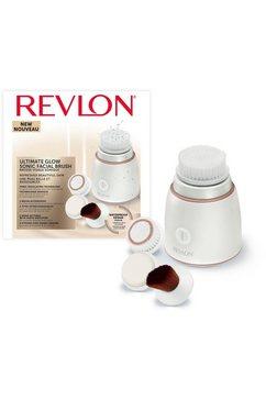 revlon gezichtsborstel ultimate glow - rvsp3538uke, levert tot 300 pulseerbewegingen per seconde wit