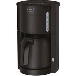 krups filterkoffiezetapparaat pro aroma, koffiekan 1 l zwart