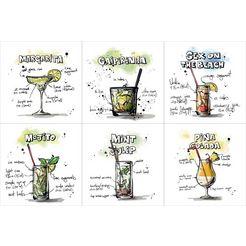 queence onderzetter voor drankjes multicolor