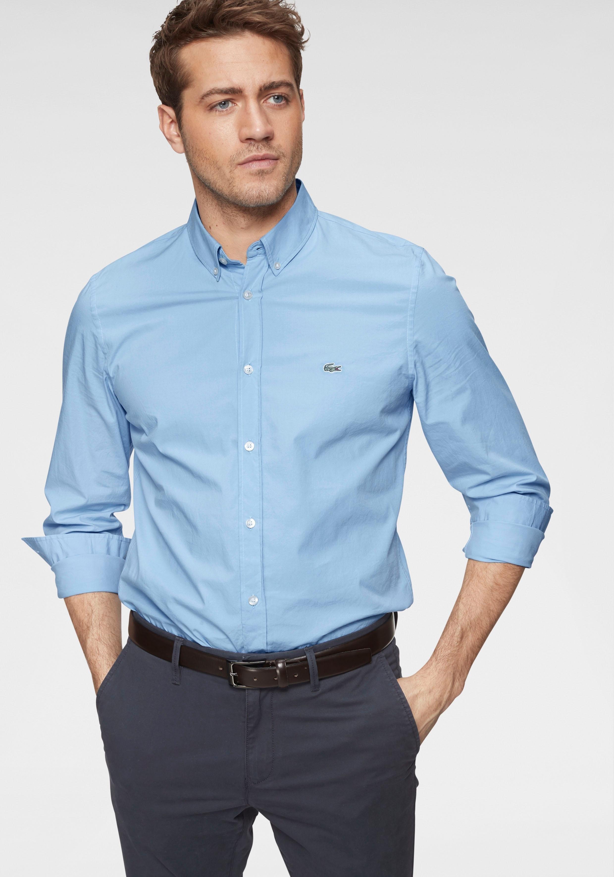 LACOSTE overhemd met lange mouwen goedkoop op otto.nl kopen
