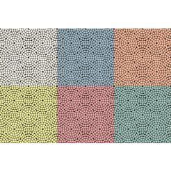 queence onderzetter voor drankjes gc0009 gemaakt van acrylglas (set, 6-delig) multicolor