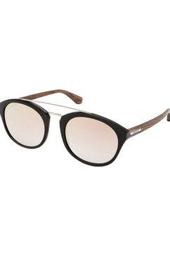 wood fellas zonnebril dames met poten van gefineerd hardhout zwart