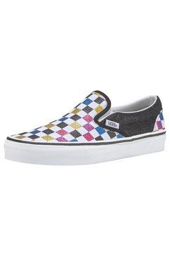 vans sneakers »classic slip-on checkerboard« wit