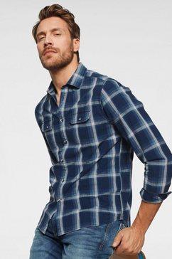 pepe jeans overhemd met lange mouwen »taylor« blauw