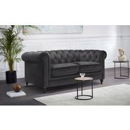 premium collection by home affaire chesterfield-bank chambal met klassieke capitonnage grijs