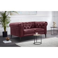 premium collection by home affaire chesterfield-bank »tobol« rood