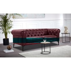 premium collection by home affaire chesterfield-sofa »tobol« rood