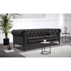premium collection by home affaire chesterfield-bank tobol in modern chesterfield design grijs