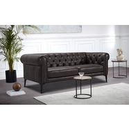 premium collection by home affaire chesterfield-bank tobol in modern chesterfield design bruin