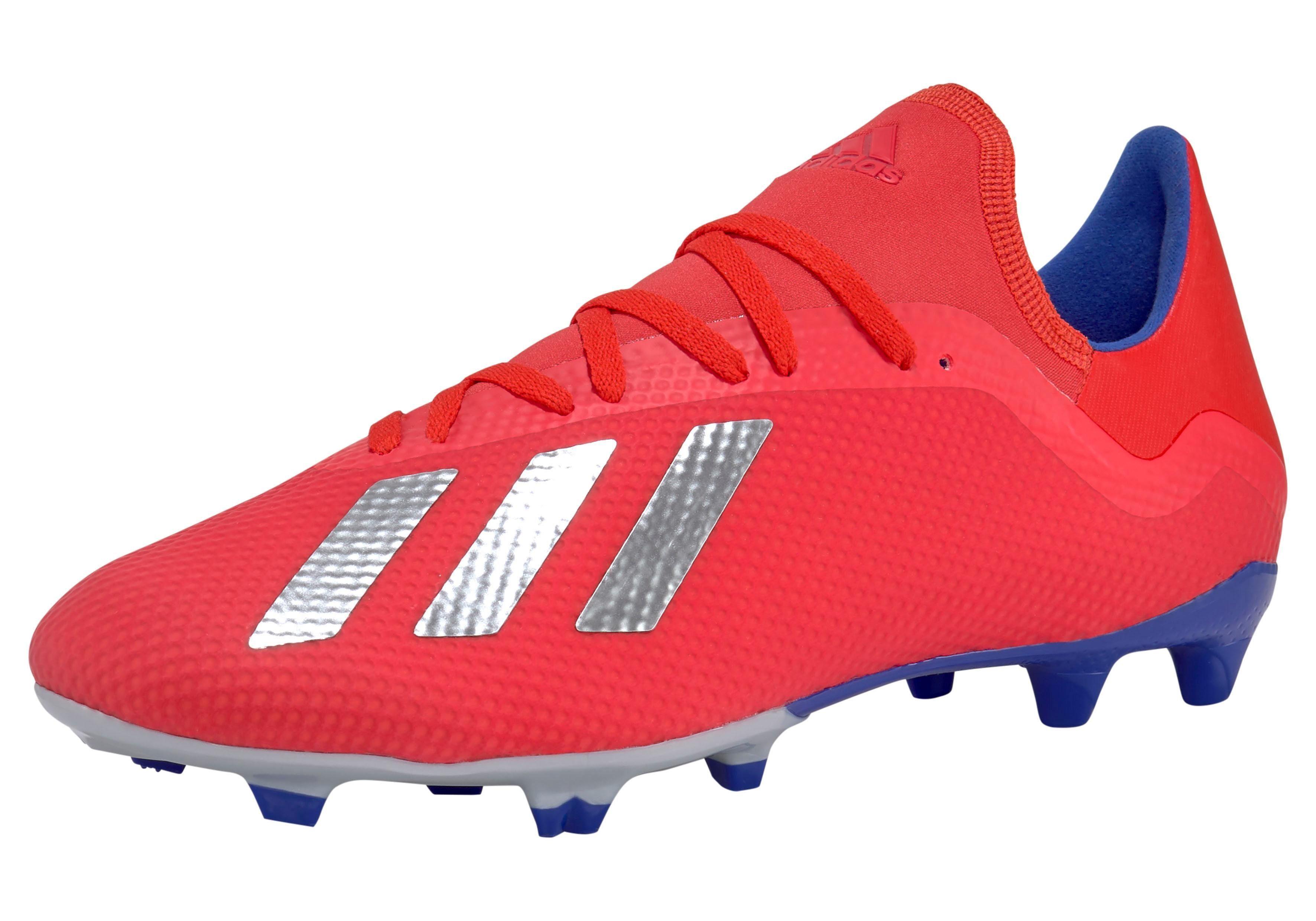 Adidas performance X 18.3 FG J voetbalschoenen roodblauw