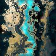 leonique artprint op acrylglas abstracte kunst goud