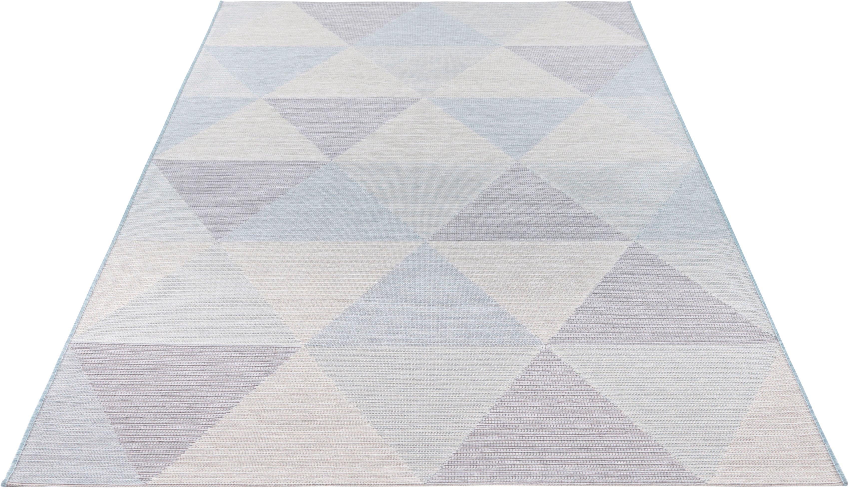 ELLE DECORATION vloerkleed Sevres Platweefsel, geschikt voor binnen en buiten, geometrisch design, voor terras en balkon, woonkamer online kopen op otto.nl