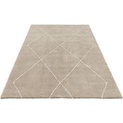 vloerkleed, »massy«, elle decor, rechthoekig, hoogte 14 mm, machinaal geweven beige