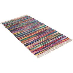 loper, »multi«, andiamo, rechthoekig, hoogte 10 mm, handgeweven multicolor