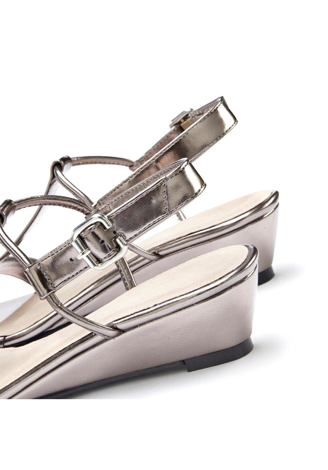 LASCANA sandaaltjes met sleehak? Bestel nu bij  antraciet