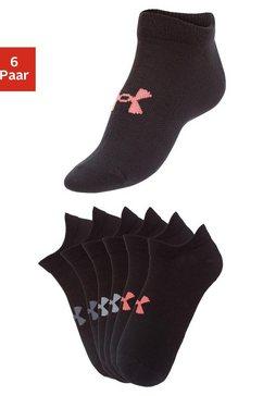 under armour sneakersokken (6 paar) zwart
