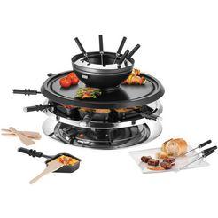 unold raclette en fondueset multi 4 in 1 - 48726 zwart