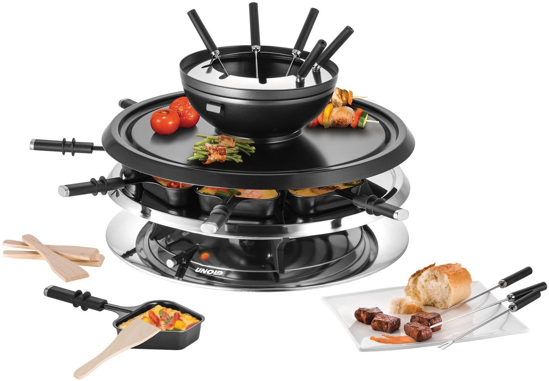 Unold raclette en fondueset Multi 4 in 1 - 48726 bij OTTO online kopen