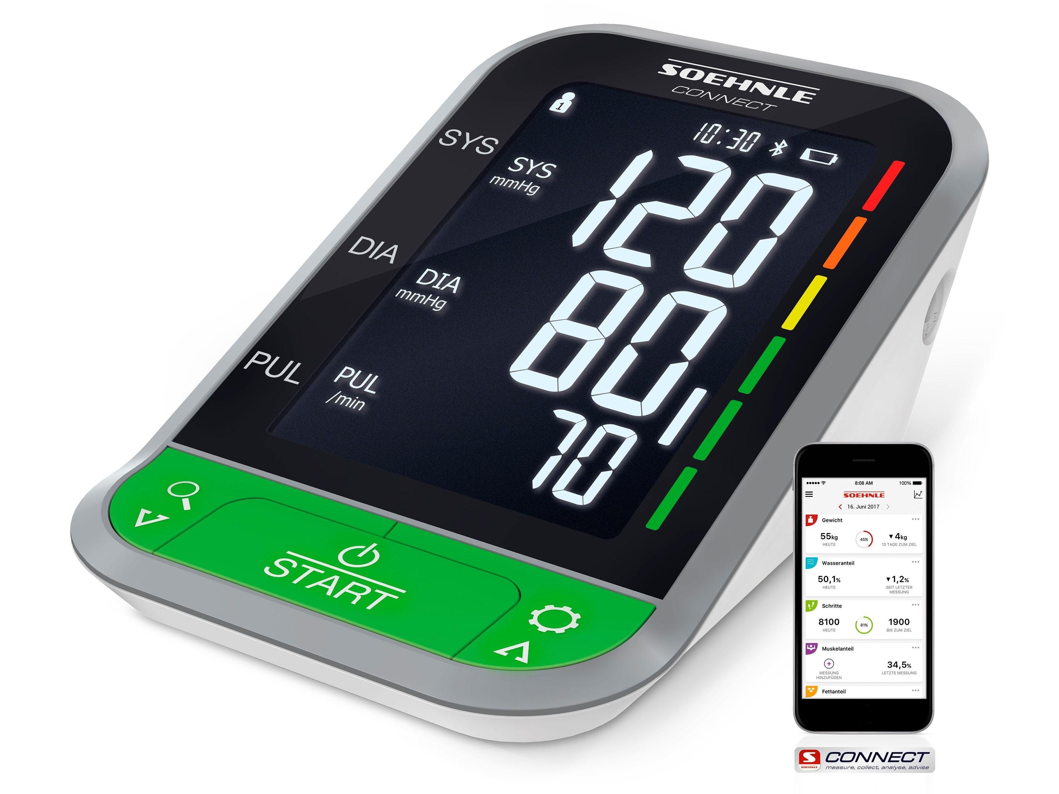 Soehnle bovenarm-bloeddrukmeter Systo Monitor Connect 400 - gratis ruilen op otto.nl