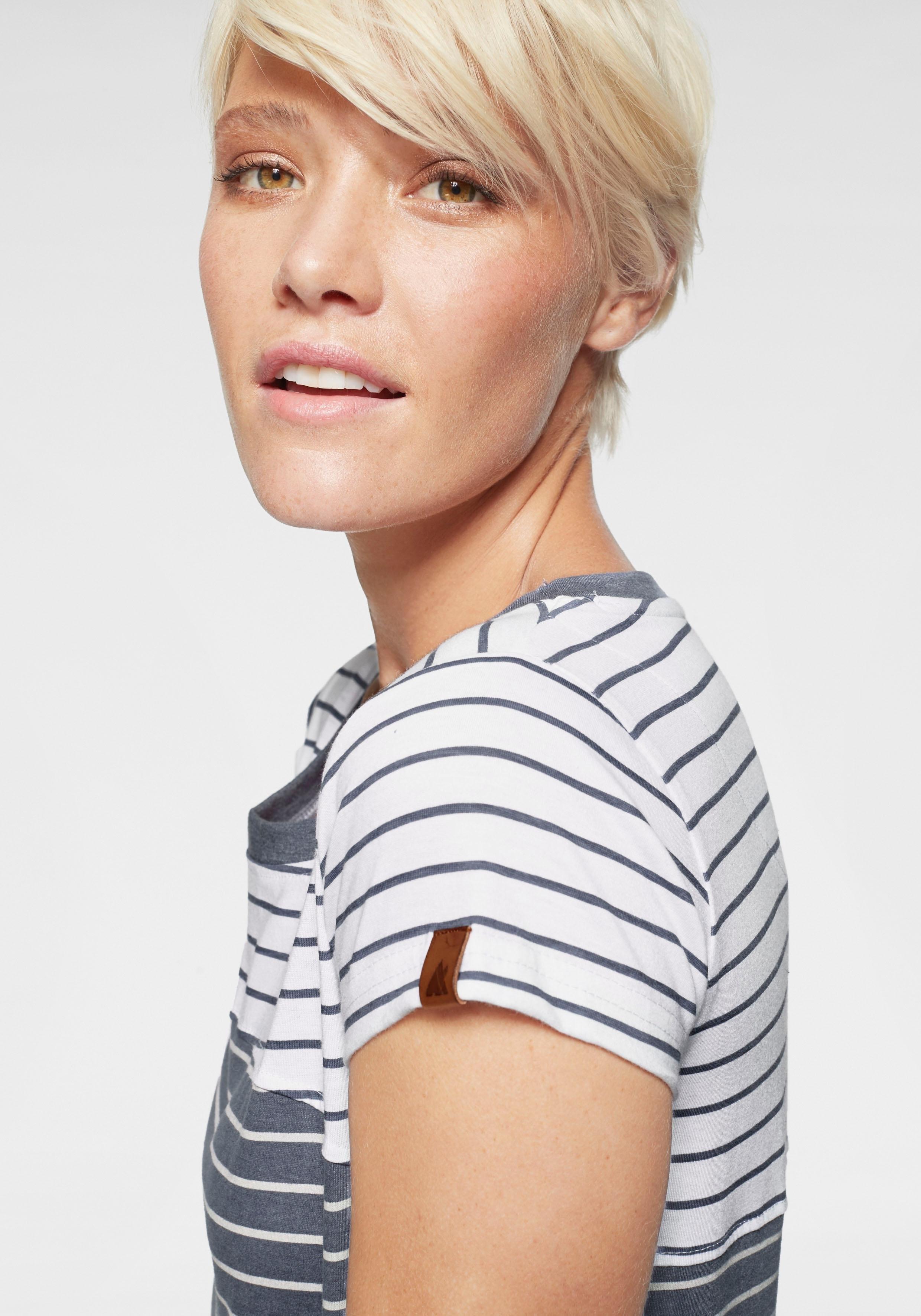 alife and kickin T-shirt CosmaAK trendy shirt met korte mouwen in trendy strepenmix nu online bestellen