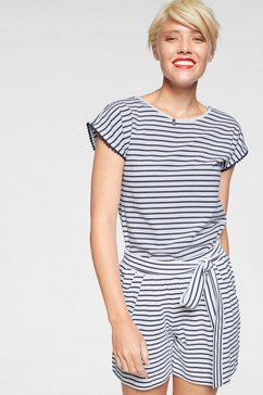 ajc jumpsuit t-shirt  short in jumpsuit-look (set, 2-delig) wit