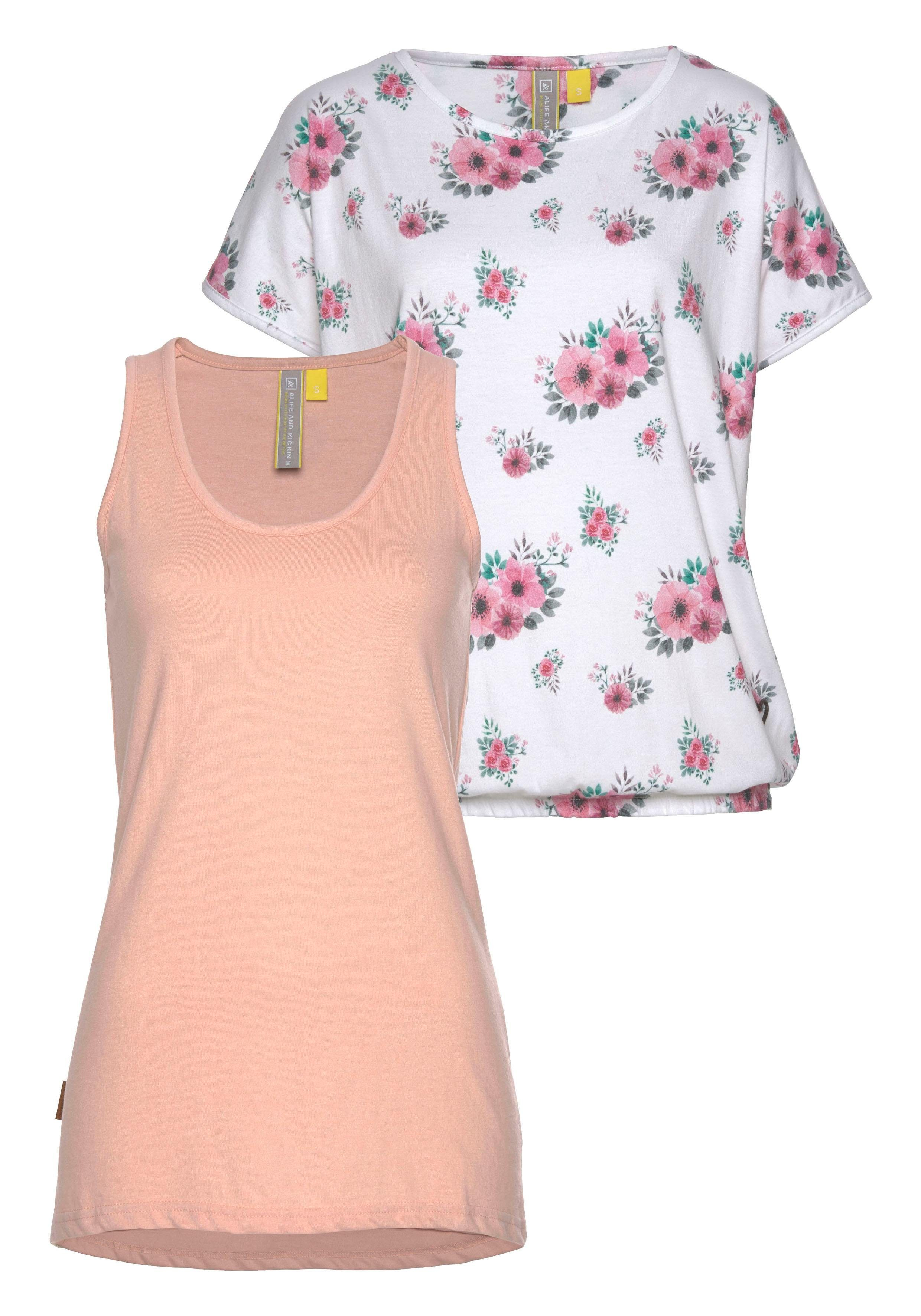Alife And Kickin 2-in-1-shirt Sunny (set, 2-delig) Snel Online Gekocht - Geweldige Prijs