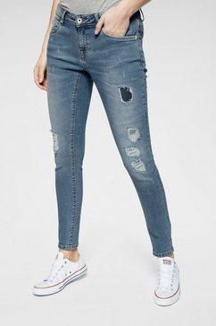 superdry skinny jeans »cassie skinny« blauw