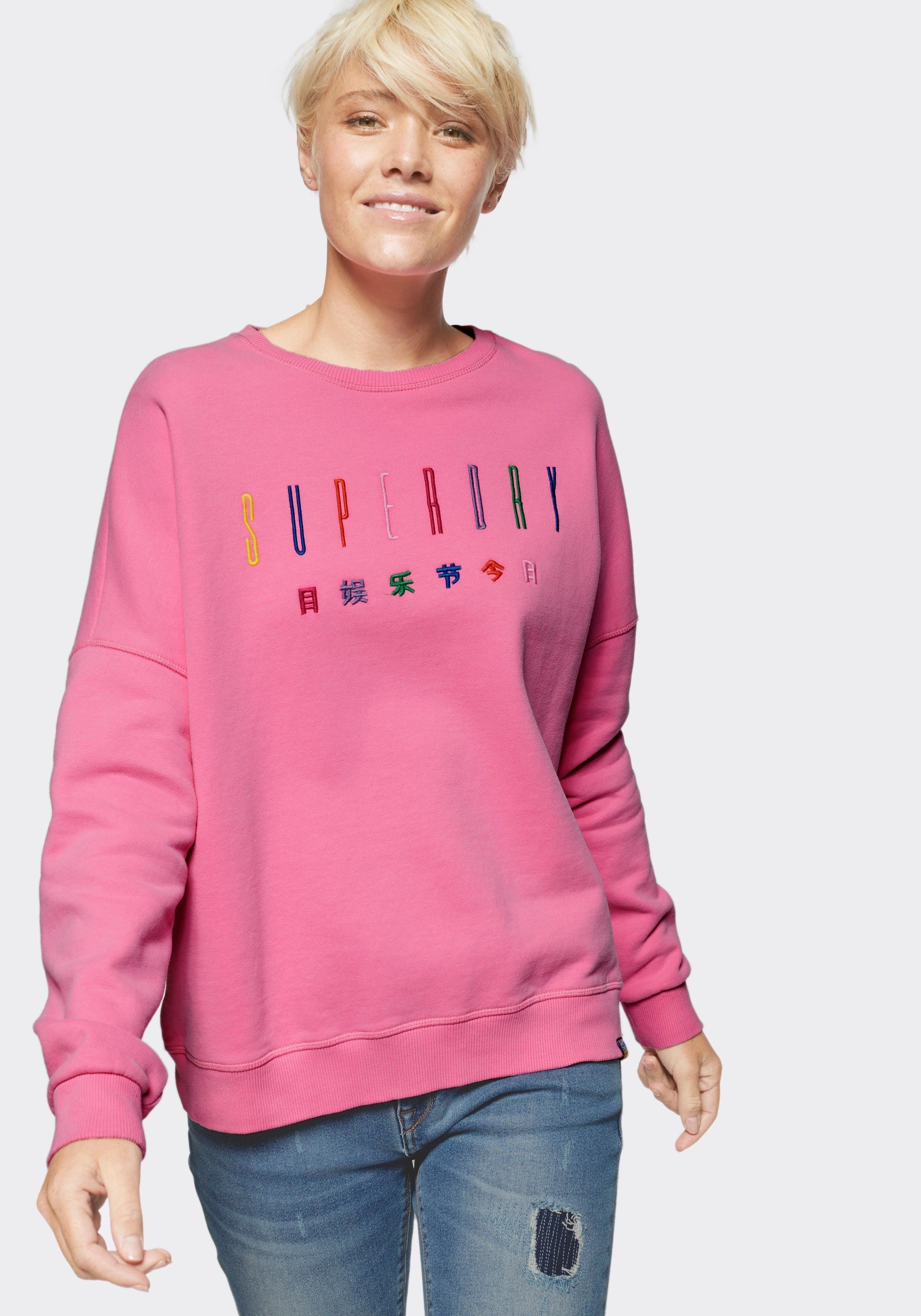 Superdry sweatshirt »CARLY CARNIVAL EMBROIDERED CREW« - verschillende betaalmethodes