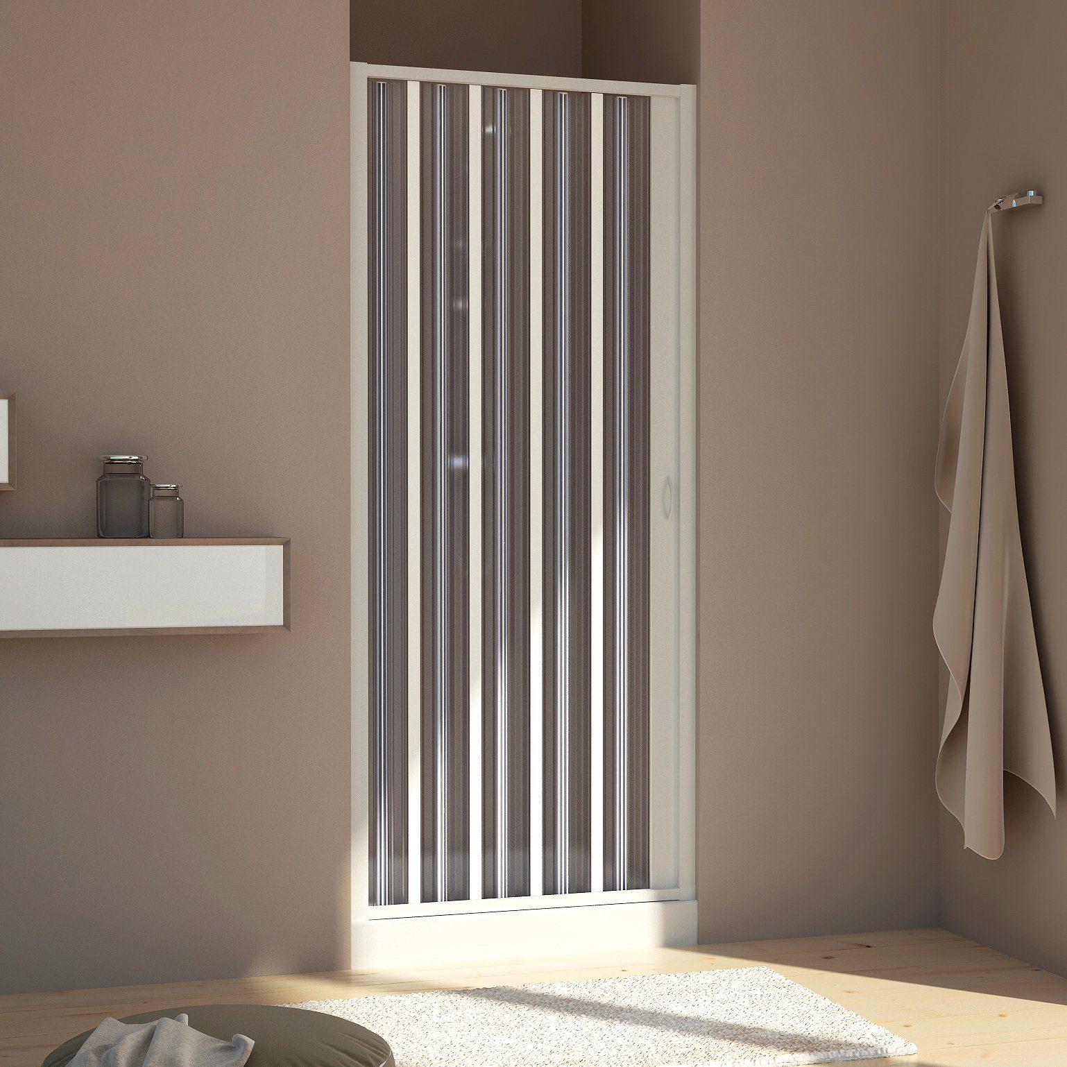 Nisdeur met klapdeur« douchedeur met verstelbereik van