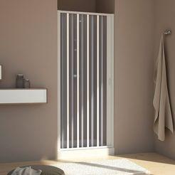 nisdeur »met klapdeur«, douchedeur met verstelbereik van 100 - 140 cm x 188 cm wit