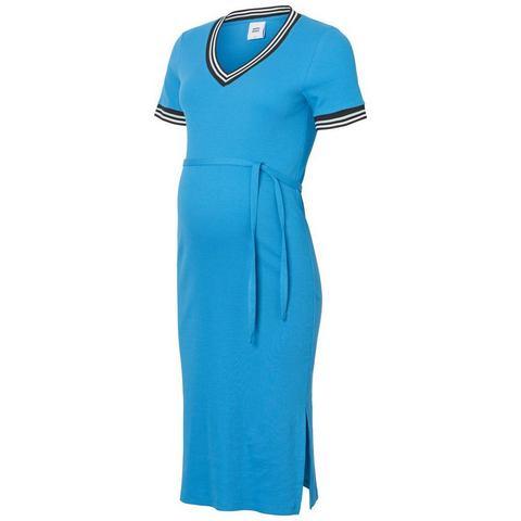 Mama Licious Rib Zwangerschapsjurk blauw