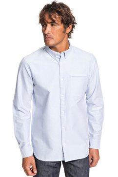 quiksilver - ostalamer oxford - overhemd met lange mouwen voor heren blauw