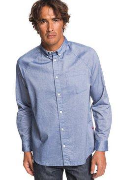 quiksilver - agora - overhemd met lange mouwen voor heren blauw