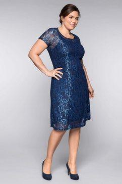 sheego kanten jurk blauw