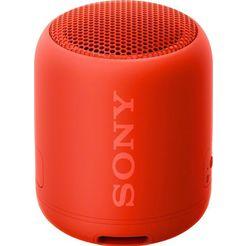 sony bluetoothluidspreker srs-xb12 handsfree functie voor oproepen rood