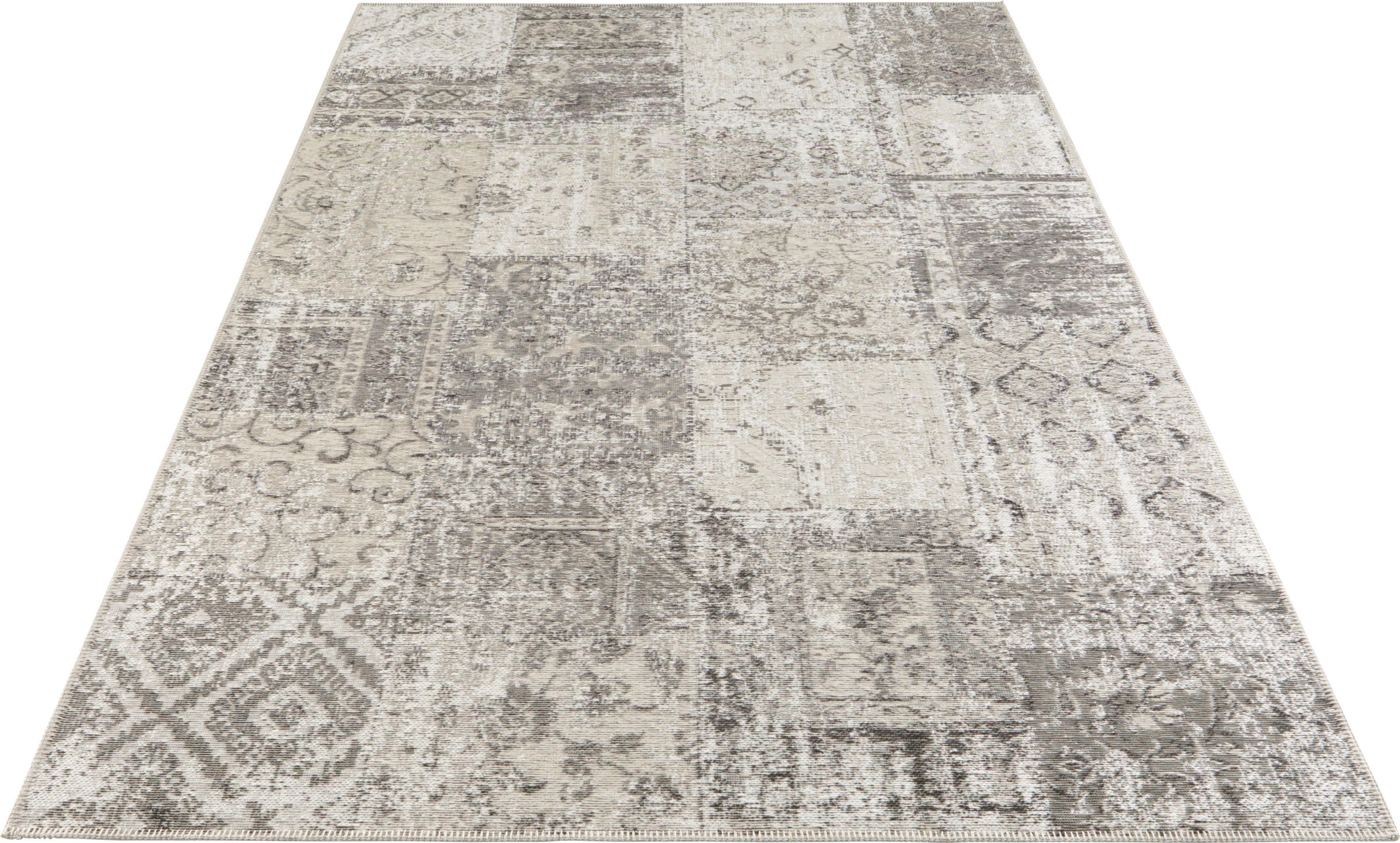 ELLE DECORATION vloerkleed Denain Vintage patchwork, hoogwaardige materialenmix, woonkamer in de webshop van OTTO kopen