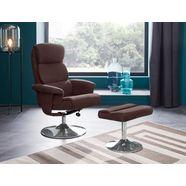 places of style relaxfauteuil met hocker »boston« met vele functies, in twee stofkwaliteiten bruin