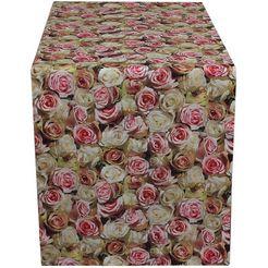 hossner - homecollection tafelloper 32452 roses (1 stuk) rood