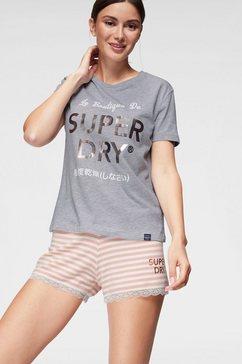superdry shortama »emma lace« grijs