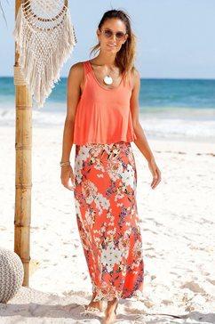 s.oliver beachwear maxi-jurk rood