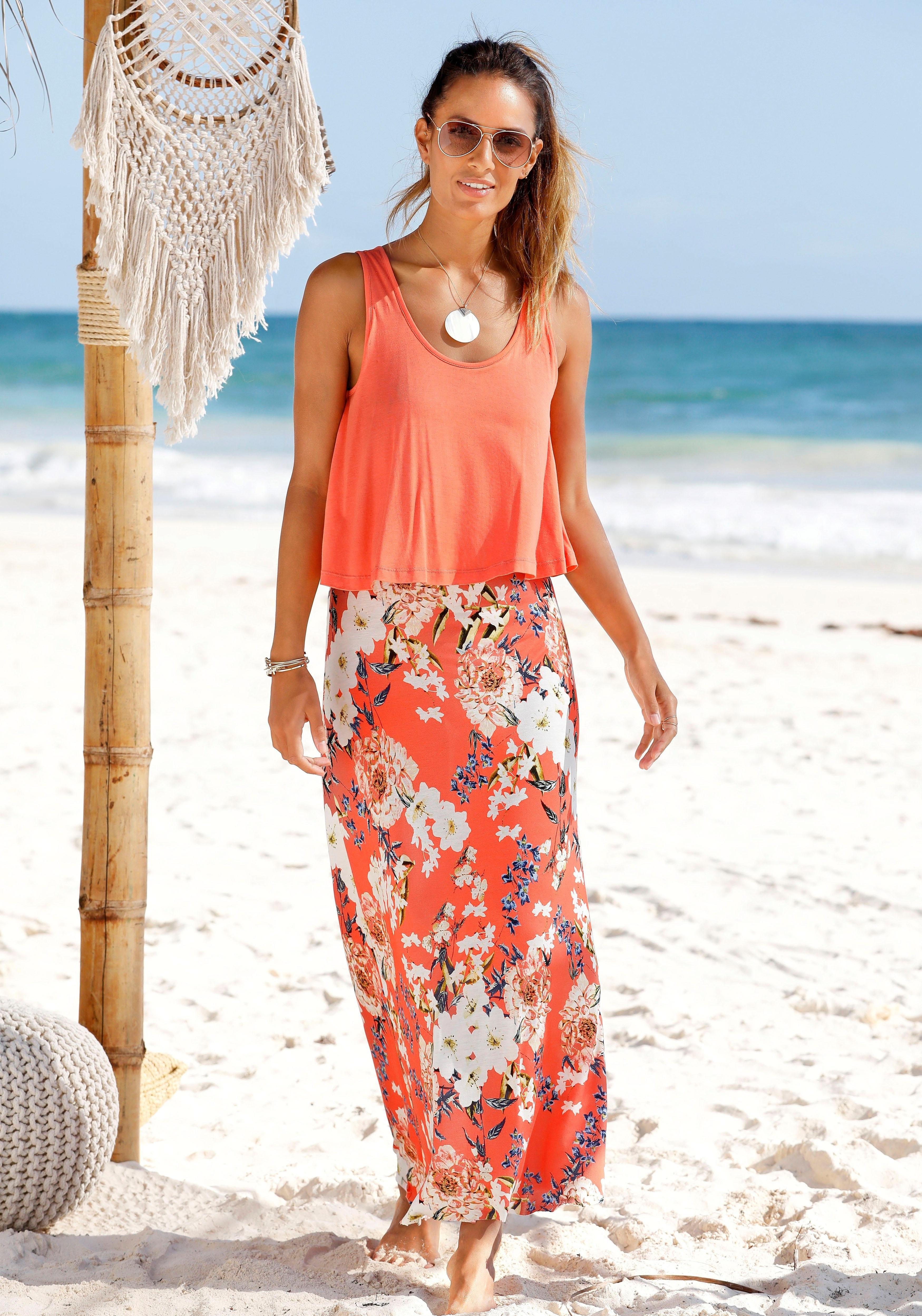 s.Oliver Beachwear s.Oliver RED LABEL Beachwear maxi-jurk bij OTTO online kopen