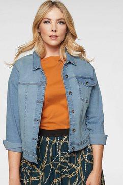 only carmakoma jeansjack blauw